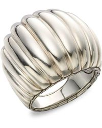John Hardy - Sterling Silver Dome Ring - Lyst