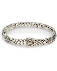 John Hardy | Dot Sterling Silver & 18k Yellow Gold Bracelet | Lyst