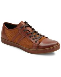 Kenneth Cole - Brand Wagon Leather Sneakers - Lyst