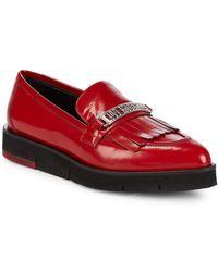 Love Moschino - Logo Platform Loafers - Lyst