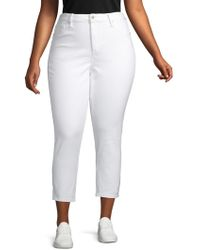Max Studio - Plus High-rise Skinny Ankle Jeans - Lyst