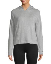 Marc New York - Heathered Cropped Hoodie - Lyst