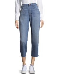 J Brand - Ivy High-rise Cotton Crop Jeans - Lyst