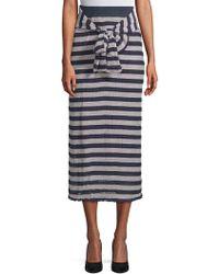 Moon River - Striped Long Skirt - Lyst
