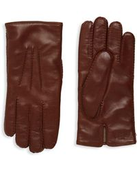 Valentino - Leather & Cashmere Gloves - Lyst