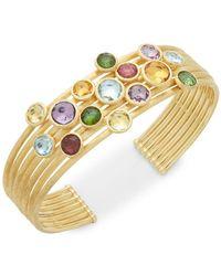 Marco Bicego - 18k Yellow Gold & Gemstones Cuff Bracelet - Lyst