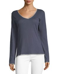 Skin Organic - V-neck Cotton Top - Lyst