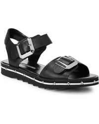 Charles David - Spy Footbed Leather Sandals - Lyst