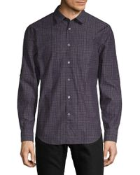 John Varvatos - Slim-fit Cotton Button-down Shirt - Lyst