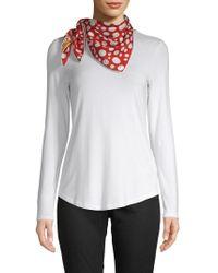 bc0b180db325 Lyst - Valentino Leopard-print Silk Scarf in Pink