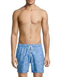Slate & Stone - Tropical-print Swim Shorts - Lyst