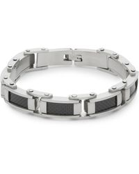 Saks Fifth Avenue | Steel Carbon Fibre Bracelet | Lyst