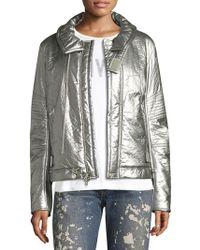 Helmut Lang - Re-edition Astro Metallic Zip-front Moto Jacket - Lyst