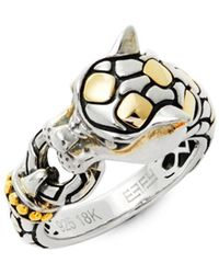 Effy - Sterling Silver And 18k Yellow Gold Ring - Lyst