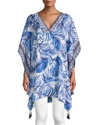Tommy Bahama - Printed V-neck Coverup - Lyst