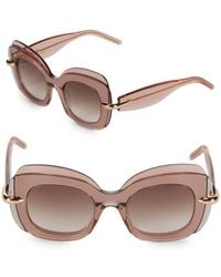 Pomellato - 49mm Layered Butterfly Sunglasses - Lyst