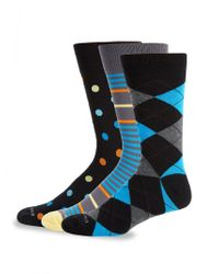 Unsimply Stitched - Three-pack Mixed Pattern Crew Socks - Lyst