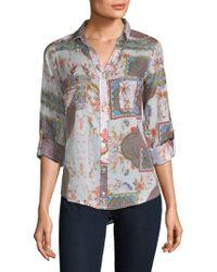 Raga - Printed Cotton Button-down Shirt - Lyst
