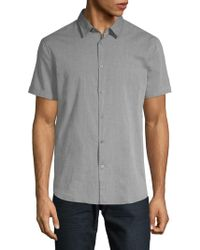 John Varvatos - Short Sleeve Woven Shirt - Lyst
