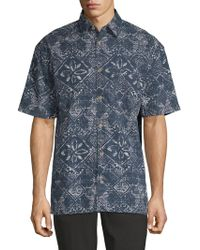 French Connection - Delon Hawaiian Cotton Button-down Shirt - Lyst