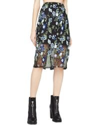BCBGeneration - Floral Embroidered Skirt - Lyst