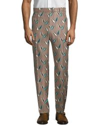 Valentino - Printed Silk Trousers - Lyst
