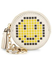 Anya Hindmarch - Pixel Smiley Leather Coin Purse - Lyst