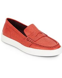 Rag & Bone - Colby Leather Driver Sneakers - Lyst