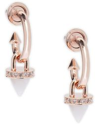 Eddie Borgo - Rose Gold Pave Cone Earrings - Lyst