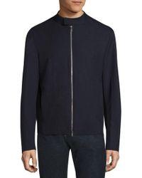 Giorgio Armani - Bonded Wool Effect Microfiber Jacket - Lyst
