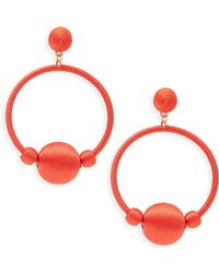 Gemma Simone - Round Drop Earrings - Lyst