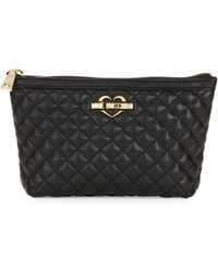 297c89d5ab74c Love Moschino - Super Quilted Zip Travel Pouch - Lyst