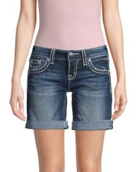 Miss Me - Mid-rise Denim Shorts - Lyst
