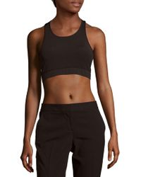 Cynthia Rowley - Solid Roundneck Sports Bra - Lyst