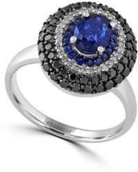 Effy - Diamond, Sapphire And 14k White Gold Ring, 1.02 Tcw - Lyst