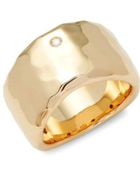 Roberto Coin - Yellow Gold & Diamond Band Ring - Lyst