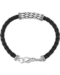 Effy - Gento Sterling Silver And Leather Bracelet - Lyst