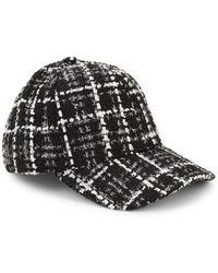 e68f64edc8f Lyst - Borsalino Men s Tweed Baseball Cap in Black for Men