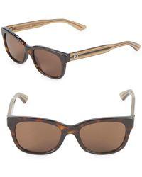 Gucci - 50mm Oval Sunglasses - Lyst
