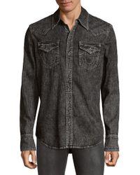 True Religion | Long Sleeve Denim Button-down Shirt | Lyst