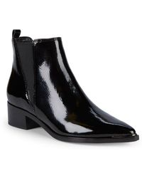 Marc Fisher - Yale Patent Leather Booties - Lyst