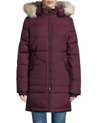 Pajar - Fox And Rabbit Fur Trimmed Quilted Parka - Lyst