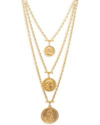 Ben-Amun - Layered Gold Coins Necklace - Lyst