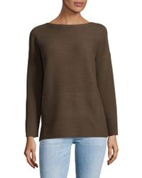 Lafayette 148 New York - Ribbed Bateau Wool Sweater - Lyst