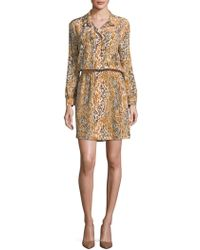 Robert Graham - Abstract Silk Blouson Dress - Lyst