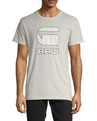 deb3feb44d8 Lyst - G-Star RAW Afrojack Cotton Tee in White for Men