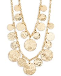 Kenneth Jay Lane - Goldtone Layered Disc Necklace - Lyst