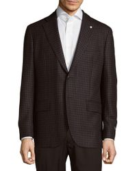 Lubiam - Classic Fit Checked Wool-blend Sportcoat - Lyst