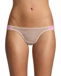 Mimi Holliday by Damaris - Lace Bow Thong - Lyst