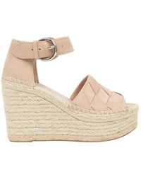 Marc Fisher - Adalla Basketweave Suede Platform Wedge Sandals - Lyst